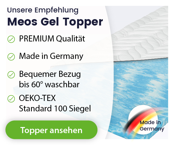 Meos Gel Matratzen Topper